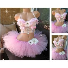 Items similar to Rave Outfit - Black Lilac Light Purple Rave Bustier Bra and TuTu, Rave Corset top, Pastel Goth, EDM Outfit - Pre Made on Etsy Rave Costumes, Carnival Costumes, Festival Outfits, Festival Fashion, Festival Style, Rave Corset, Decorated Bras, Edm Outfits, Hippy Chic