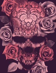 Floral Skull by: BioWorkZ http://www.creativeboysclub.com/