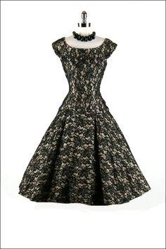 Retro glam black lace #retro #dresses #lace