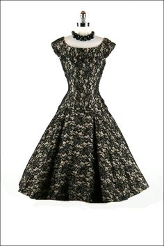 Retro glam black lace #retro #dresses #lace