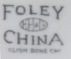 Backstamp on one of my Foley Teacups - indicates it was made between 1919-1930