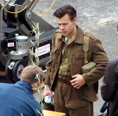 Harry the actor. On the set of Dunkirk.