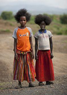 Konso girls, Ethiopia