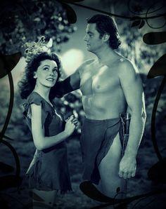 Maureen O'Sullivan and Johnny Weissmuller - Jane and Tarzan