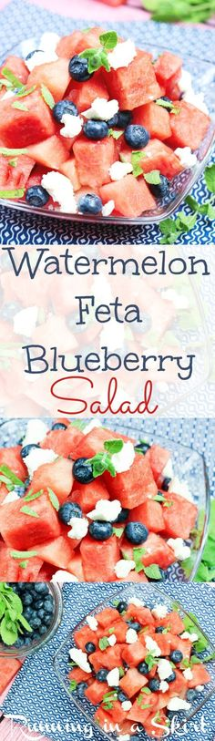 Sweet, savory and just a little bit tangy, this blueberry watermelon and feta salad has got our taste buds tingling.
