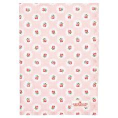 Greengate tea towel tammie pink