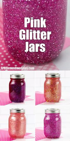Learn how to make 4 unique DIY pink glitter jars with our helpful step-by-step instructions and video tutorial. They are perfect for practicing mindfulness with kids of all ages! diy projects for kids mason jars Pink Glitter Jar Instructions Kids Crafts, Crafts For Girls, Diy Crafts Videos, Diy Crafts For Kids, Kids Diy, Decor Crafts, Easy Crafts, How To Make Crafts, Glitter Projects For Kids