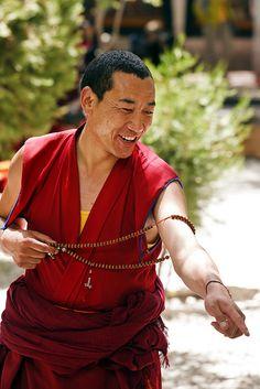 Sera Monk - Lhasa, Tibet - debate