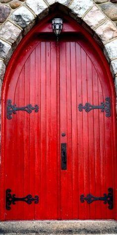 Red and black door