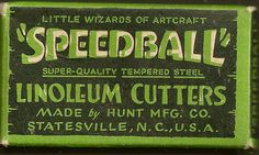 Speedball linoleum cutters