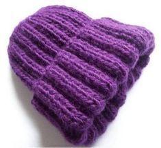 Crochet Beanie, Knitted Hats, Knit Crochet, Crochet Hats, Rib Stitch Knitting, Baby Knitting, Diy Crafts Knitting, Diy Hat, Christmas Knitting