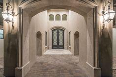 Spanish Transitional - Front Entry. Architectural Design: I PLAN, LLC  Builder: Starwood Custom Homes  #frontentry #foyer #customhomes #houseplans #architect #architecture #architecturaldesign #iplanllc #iplandesign #homes #luxuryhomes #azhomes #architectinmesa #architectinphoenix