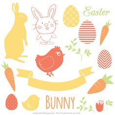 Curly Made: Free Easter Vectors