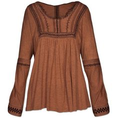 SALE! Macchiato Kurta (21 CAD) ❤ liked on Polyvore featuring tops, tunics, shirts, shirts & tops, brown tunic, brown shirt and brown tops