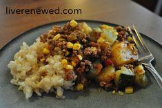 Zucchini ground beef casserole