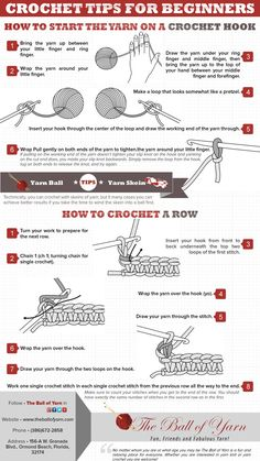 Knowing the basics of crocheting can bring you a little income and later on you very own business so take advantage of this image to learn.