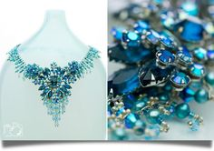 rare vintage with andrea li chain gemstone and drop reworked necklace