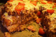 Smaskelismaskens: Varm smörgåstårta med köttfärs, bacon och vitlöksost Bacon, Meatloaf, Sandwiches, Chicken, Paninis, Pork Belly, Cubs