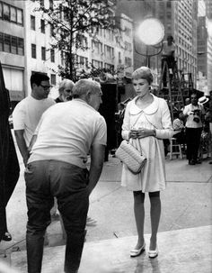 August 27, 1967: Mia Farrow during filming of 'Rosemary's Baby' at Fifth Ave. and 57th St., New York City. Photo: Ed Giorandino/NY Daily News