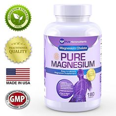 Fast Acting Gentle Supplement best for Anxiety Relief, Increased Energy & Sleep Quality, Relieves Muscle Cramps, Tension & Migraines Tension Migraine, Magnesium Glycinate, Magnesium Supplements, Natural Sleep Aids, Anxiety Relief, How To Increase Energy, Amino Acids