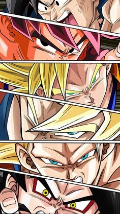 Goku forms by NabilJabour.deviantart.com on @DeviantArt