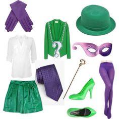 The riddler costume for women