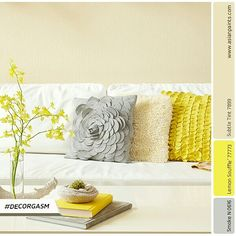 Pillows are an easy way to update your decor in a flash! 
