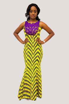 Robe de dîner imprimé africain robe de paon longueur au sol