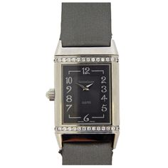 Jaeger-LeCoultre Lady's Stainless Steel and Diamond Duetto Duo Reverso Wristwatch | From a unique collection of vintage wrist watches at http://www.1stdibs.com/jewelry/watches/wrist-watches/