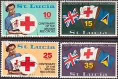 St Lucia 1970 Red Cross Set Mint SG 297/300 Scott 282/5 Condition Fine Other St Lucia Stamps HERE