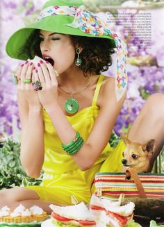 "Vogue Brazil ""Puro Delírio Pop"" ladies who lunch"
