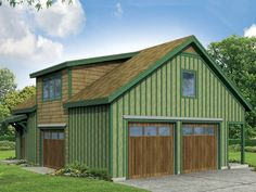 Garage apartment plans are closely related to carriage house designs. Typically, car storage with living quarters above defines an apartment garage plan. View our garage plans. Country Style House Plans, Cottage House Plans, Cottage Homes, Cottage Style, Cabin Homes, Log Homes, Swedish Cottage, Cottage Ideas, Garage Apartment Plans