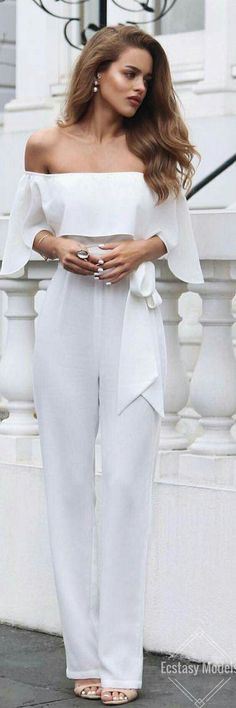 Ecstasy Models Stunning ellezeitounedesigns jumpsuit Fashion Look by Nada Adelle Fashion Looks, Love Fashion, Fashion Outfits, Womens Fashion, Daily Fashion, Dress Fashion, Vintage Fashion, White Outfits, Classy Outfits