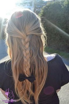 Curls hairstyle with bows 2015