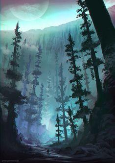 Base of the Great Glacier by jordangrimmer.deviantart.com on @deviantART