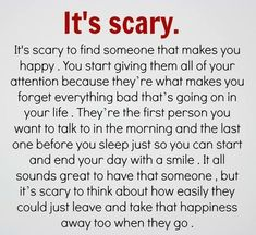 New Quotes Love Hurts Feelings Relationships Scary 28 Ideas Love Is Scary Quotes, Hurt Quotes, Love Yourself Quotes, Love Quotes For Him, New Quotes, Inspirational Quotes, Scary Poems, Motivational Quotes, Hurt Feelings