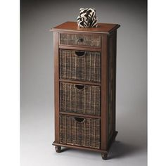 Butler Specialty Company Tall Chest - Butler Loft - 1133140. Butler Specialty Company Tall Chest - Butler Loft - 1133140 This distinctive chest provides standout good looks and abundant storage. Its rich hand-rubbed walnut finish is elegantly contrasted by three convenient abaca rope p.. . See More Chests at http://www.ourgreatshop.com/Chests-C698.aspx