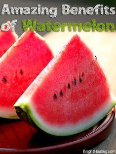 The Amazing Health Benefits of Watermelon #watermelon #watermelonbenefits