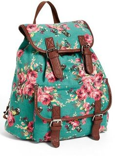 Amici Accessories Floral Canvas Backpack (Juniors) (Online Only)