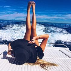 a boat ride is a must for a perfect summer day. Dont forget your floppy hat!