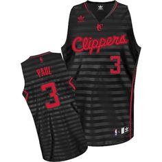11daa847c Chris Paul Swingman In Black Grey Adidas NBA Los Angeles Clippers Groove  3  Men s