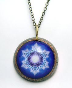 Water star Mandala/ Orgonite Pedant/ Orgone Necklace/Orgone Jewlry/harmonizing jewelry