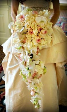Cascades of roses for this wedding #bouquet I Xquisite Events, Inc.I http://www.weddingwire.com/biz/xquisite-events-inc-boca-raton/portfolio/22904790297c603c.html?page=5&subtab=album&albumId=e73ef1b413c85435#vendor-storefront-content