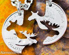 moose necklace – Etsy