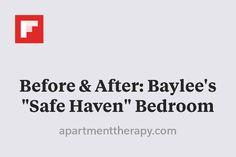"""Before & After: Baylee's """"Safe Haven"""" Bedroom http://flip.it/zg7tV"""