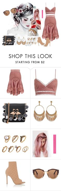 """From The Dining Table #HarryStyles"" by diane-ds ❤ liked on Polyvore featuring Zimmermann, Sophia Webster, Gianvito Rossi and Marni"