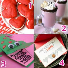 v-day~ decor ideas. in luv with the heart whoopie pies & drinks idea! looks yummy!