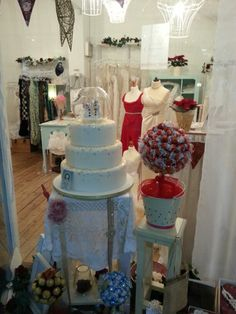 Zoes Fancy Cakes in our shop window December 2014