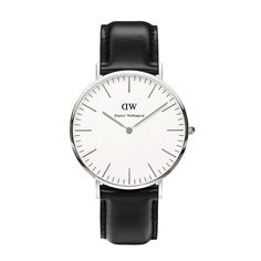 The Daniel Wellington watch with its interchangeable straps speaks for a classic and timeless design suitable for every occasion This men's watch from the Sheffield collection features a black leather