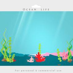Bajo el mar  prediseñadas de mar peces por WinchesterLambourne